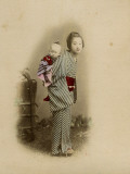Young Japanese Nurse Carrying a Baby Photographic Print by Pump Park