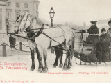 An Ambassador in His Horse-Drawn Sled on a Street in St Petersburg, Russia Photographic Print