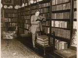 The English Politician Stanley Baldwin Reading in His Library Photographic Print