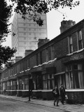 Victorian Terrace and High Rise Flats - Salford, Manchester Photographic Print by Shirley Baker