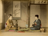 Women in Kimonos in Japanese House Photographic Print by Pump Park
