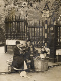 "Two Mature Flower ""Girls"" Sell Flowers on an Unnamed London Street Photographic Print"