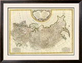 Composite: Russia, c.1785 Framed Giclee Print by Rigobert Bonne