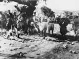 Turkish Soldiers with Casualities at Gallipoli During World War I Photographic Print by Robert Hunt
