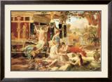 The Roman Bath Print by Emmanuel Oberhausen
