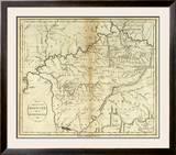 State of Kentucky, c.1796 Framed Giclee Print by John Reid