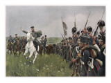 Von Blucher before the Battle of the Katsbach Giclee Print