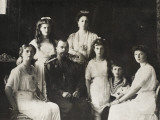 Tsar Nicholas II of Russia and His Family Papier Photo