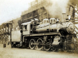 Steam Engine from the Canadian Pacific Railway, Vancouver, Canada Photographic Print