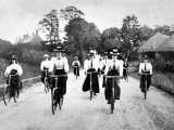 Victorian Women Cyclists Descending a Hill, 1898 Photographic Print