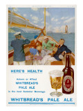 Whitbread's Pale Ale Ashore or Afloat, the Best Summer Beverage Giclee Print