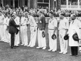 The King with the English Cricket Team Photographic Print
