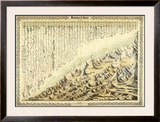 Mountains & Rivers, c.1856 Framed Giclee Print by G. W. Colton