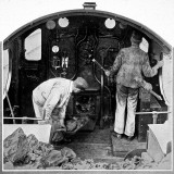 Two Drivers in the Cab of the Saint Bartholomew Photographic Print