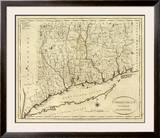 Connecticut, c.1796 Framed Giclee Print by John Reid