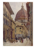 Via Dei Servi Leading from the Piazza Del Duomo Giclee Print