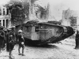 A Tank Called the Lusitania in France on the British Front During World War I in 1917 Photographic Print by Robert Hunt
