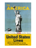 United States Lines Poster Giclee Print
