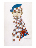 Union Jack Hat and Scarf Giclee Print
