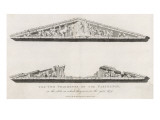 The Two Pediments of the Parthenon in the State in Which They Were in the Year 1674 Giclee Print