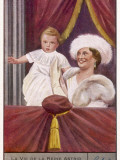Astrid Holds Up Her Son, Named Prince De Liege, to the People of Liege Photographic Print
