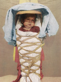 A Navaho Papoose of Arizona Swaddled in its Mother's Back-Pack Photographic Print