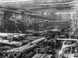 Women Workers in the Howitzer Shop at the Coventry Ordance Works During World War I Photographic Print by Robert Hunt