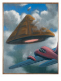 UFO Encounter, Pelotas, Brazil Giclee Print by Michael Buhler