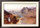 Highland Peaks Prints by Alfred Fontville de Breanski