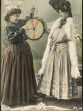 A Fortune-Teller Uses a 'Wheel of Fortune' Photographic Print