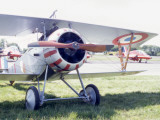 A Biplane Dating from 1915-30 on a 21st Century Airfield Photographic Print by Vanessa Wagstaff