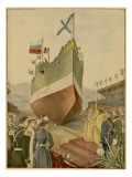 This Warship for the Russian Navy Is Built in France, and Launched at Toulon Giclee Print