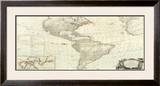 Composite: America, c.1786 Framed Giclee Print by Robert Sayer