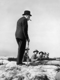 Winston Churchill Visiting Coastal Defences Near Dover Photographic Print