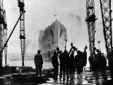 The Launch of R.M.S. 'Queen Mary', Clydebank, September 1934 Photographic Print