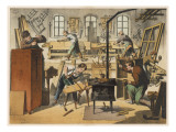 The Workshop of a Carpenter and Joiner, with Various Activities Taking Place Giclee Print