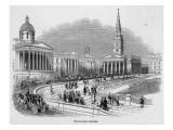 Trafalgar Square 1842 Giclee Print