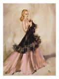Two Shades of Pink Giclee Print by David Wright