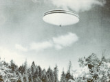 Spinning UFO over Merlin, Oregon Photographic Print