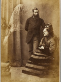 The Medium Stainton Moses, with Mrs Speer and an Unidentified Spirit Figure Photographic Print