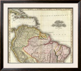 South America and West Indies, c.1823 Framed Giclee Print by Henry S. Tanner