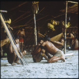 A Shaman Attempts to Heal a Sick Man by Driving Out Evil Spirits, at Mavaca, Venezuela Photographic Print