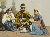A Turkish Family Smoking Photographic Print