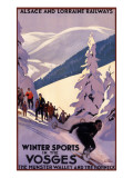 Winter Sports in the Vosges Giclee Print
