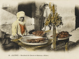 A Cake and Date Seller in Biskra, Southern Algeria, Photographic Print