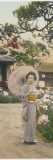 A Geisha Picking Flowers Photographic Print