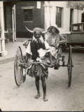 A Horned Rickshaw Man in Bulawayo, Southern Rhodesia (Now Zimbabwe) Photographic Print