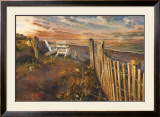 The Beach at Sunset Posters by Marilyn Hageman
