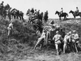 Damaged French Field Towed Away During World War I Photographic Print by Robert Hunt