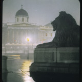 Early Morning in Trafalgar Square Photographic Print